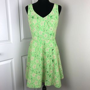 Lilly Pulitzer Freja green and pink lace dress